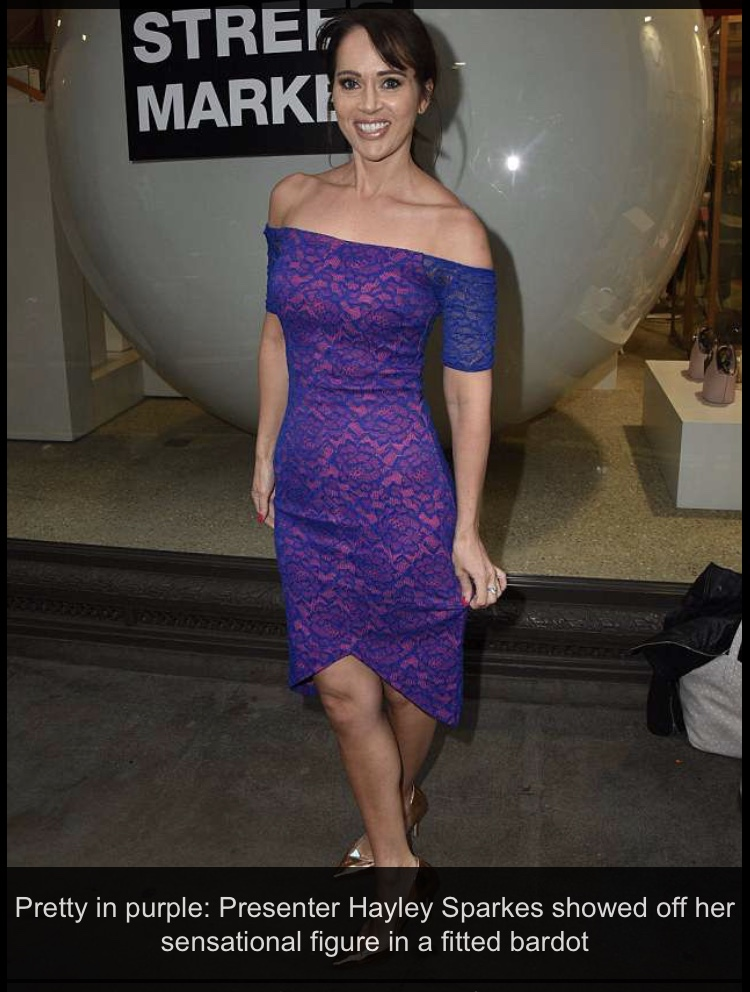 Hayley Sparkes at the Hello Magazine Market anniversary party